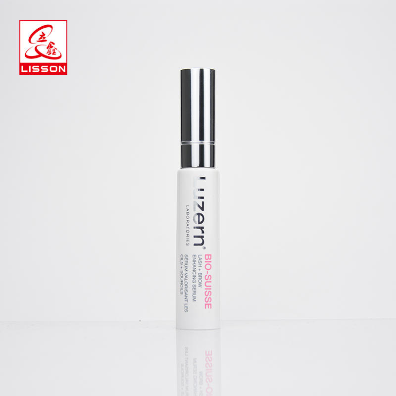 Cosmetic Plastic Tube For Lip Balm With Brush