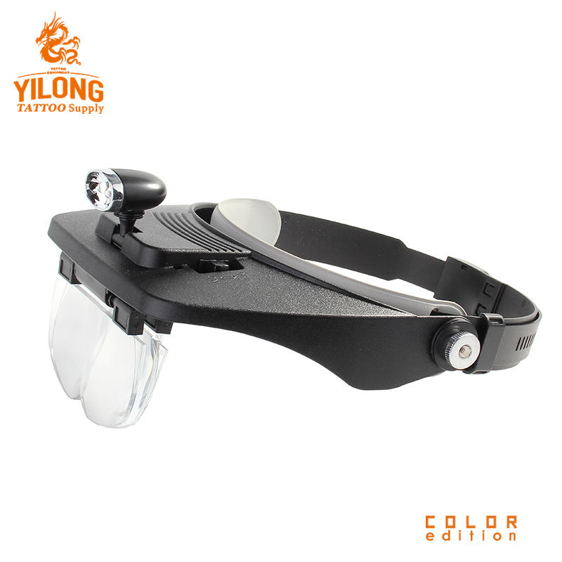 Yilong Head Magnifier Acrylic Lens Specification Led Lights Tattoo Accessory Reading Glass