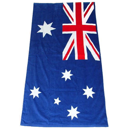 large personalized custom pigment printing cotton beach towel sand proof flag pattern