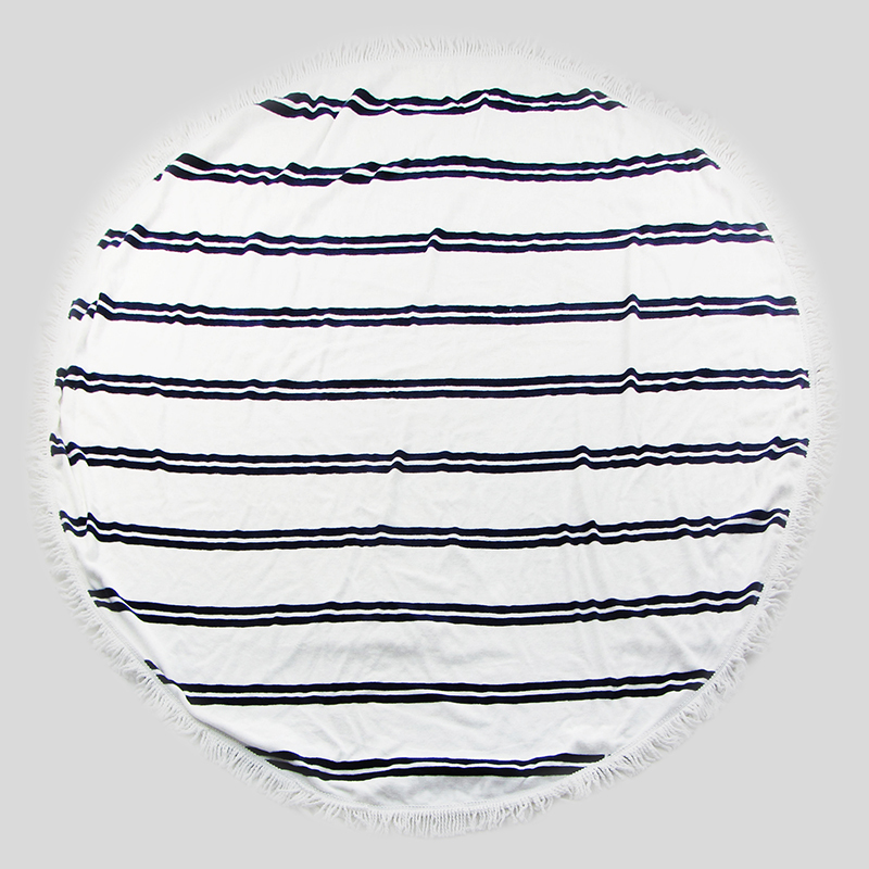 Custom Cotton Graphic Beach Towel Round with Tassel