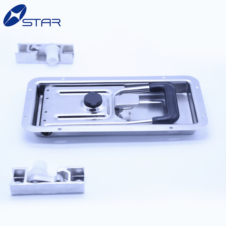 Stainless steel refrigerated van truck door handle lock