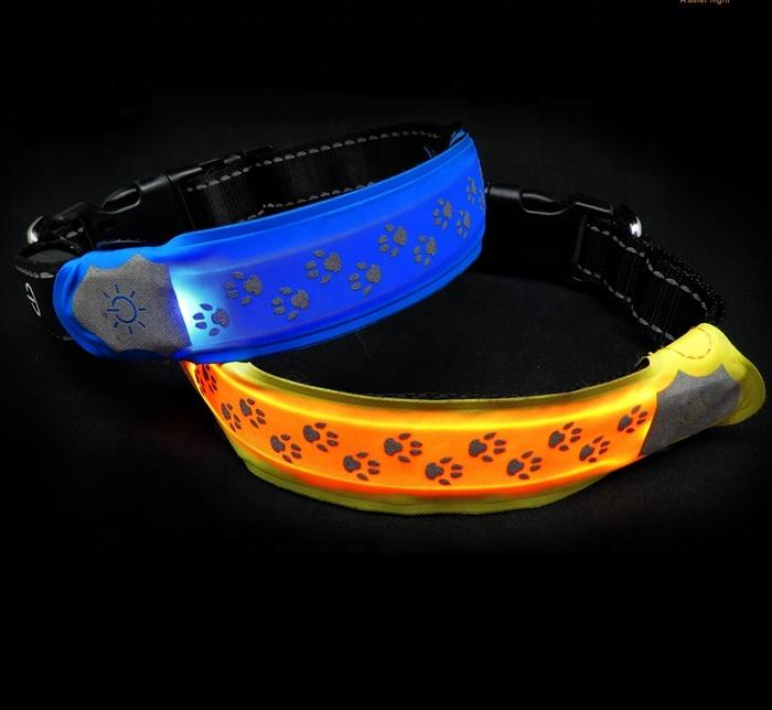 RemoveableLed Dog Collar CoverSmall Light Attach to Dog Collar Get Visibility Useful Pet Accessory
