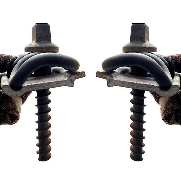 Railway track fasteners of Screw spike/Elastic strip/Gauge apron