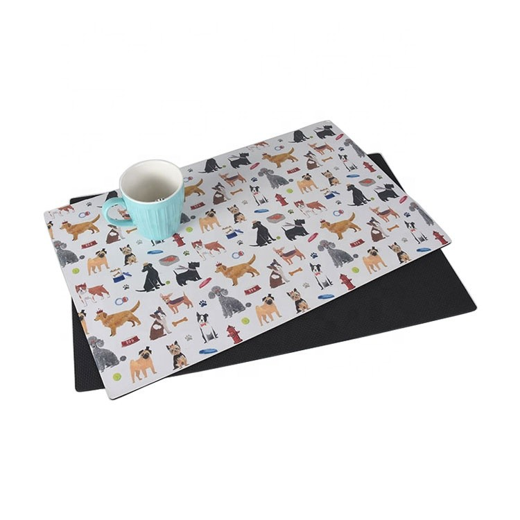 Child Waterproof Colorful FoamFood Coloring Place Mat Table Mat/placemat Kids Baby Anti Slip Rubber Placemat for Baby