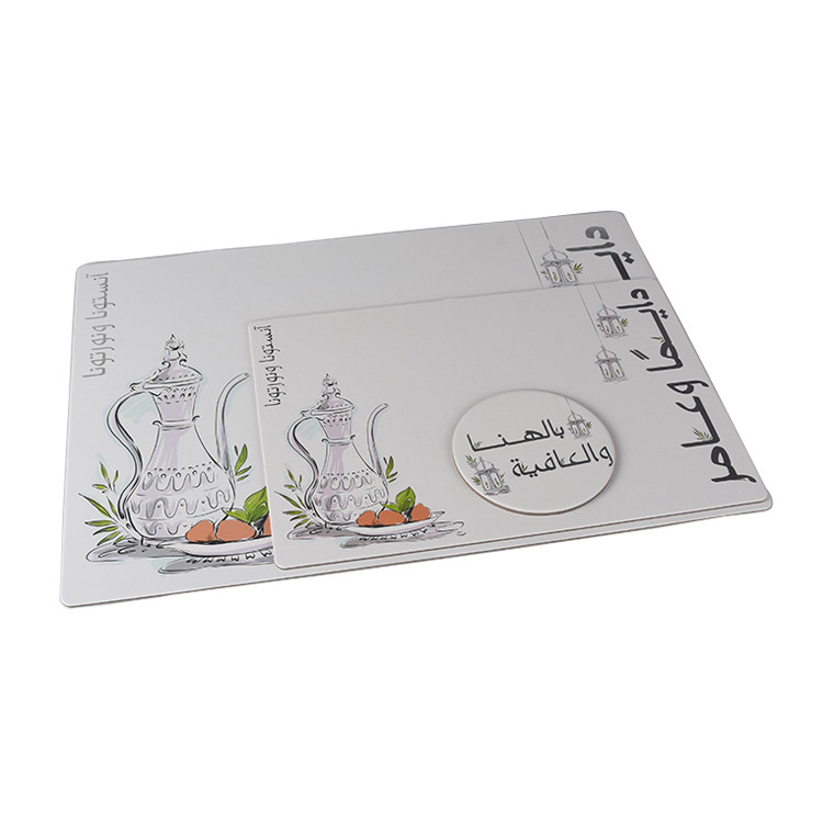 Plastic Digitally Photo Printing Custom Made Restaurant Printed Laminated Placemat