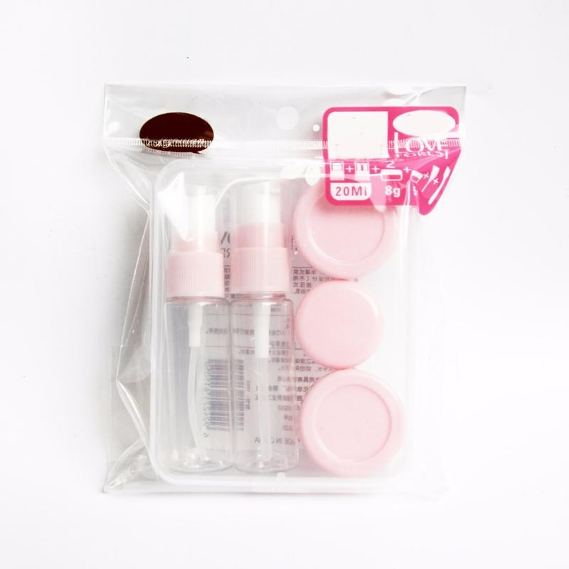 Silicone Travel Pouches & Bottles Set /travel makeup set