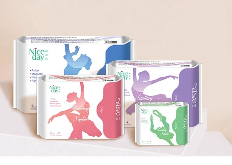 Without leakages sanitary pads with anion women ultra thin period pads manufacturer