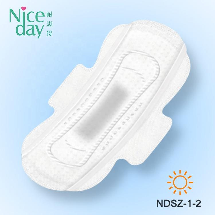 High Quality Herbal Function Sanitary Pad Disposable Day Sale in Bulk Breathable Regular Winged