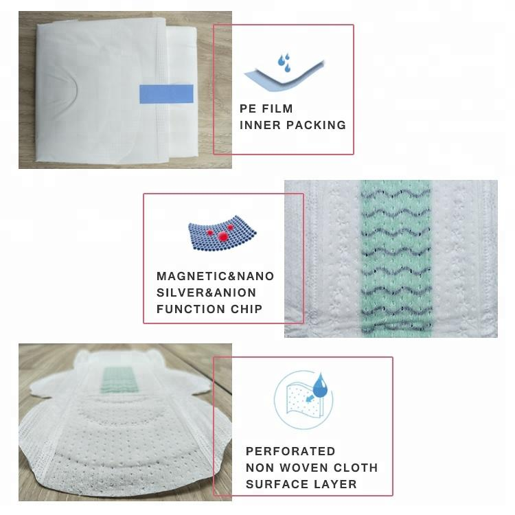 Sample order female anion sanitary pad customized private labels