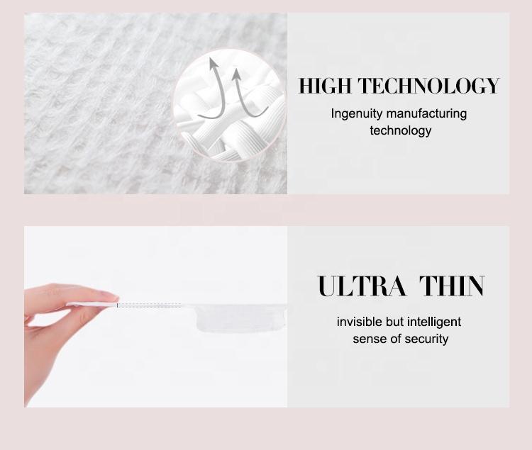 Custom logo organic cotton pads sanitary napkin natural female menstrual pad factory