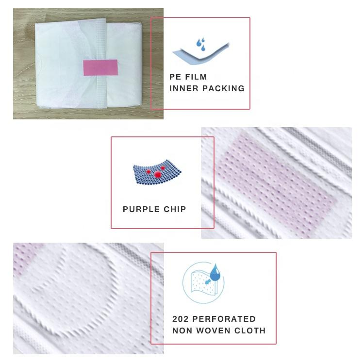 Softcare sanitary pad manufacturing negative ion sanitary napkin pad for women