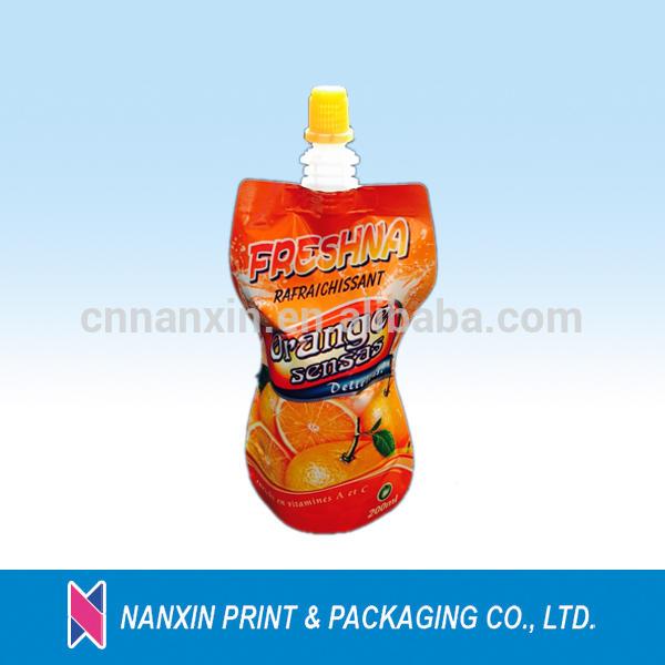 aluminum foil material beverage packaging bottle shape pouch