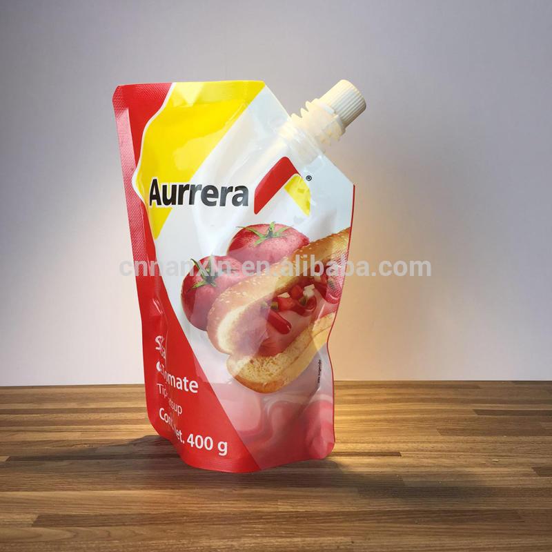 Aluminum foil stand up pouch with spout