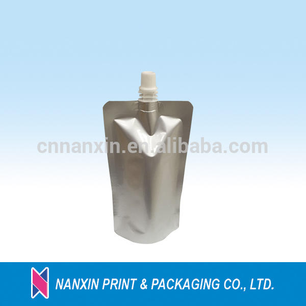 Hot filling spout aluminium packing pouch for beverage