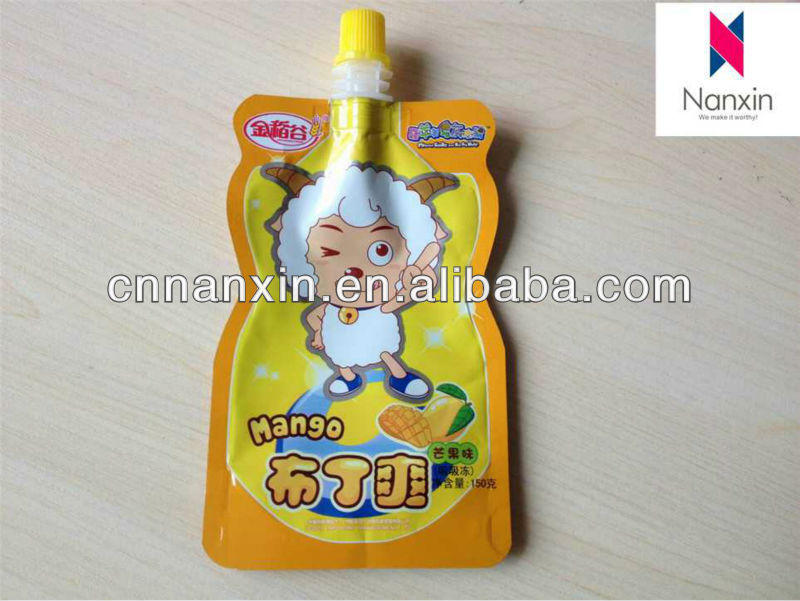 150ml stand up pouch with spout for beverage