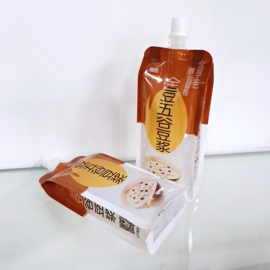 250ml spout pouch for Soya milk Liquid beverage juice