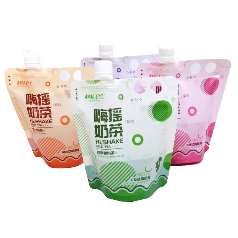 Disposable Handle holes spout pouch For Drinkjuice
