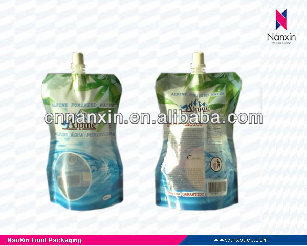 200ml stand up beverage pouch juice packaging bag with spout