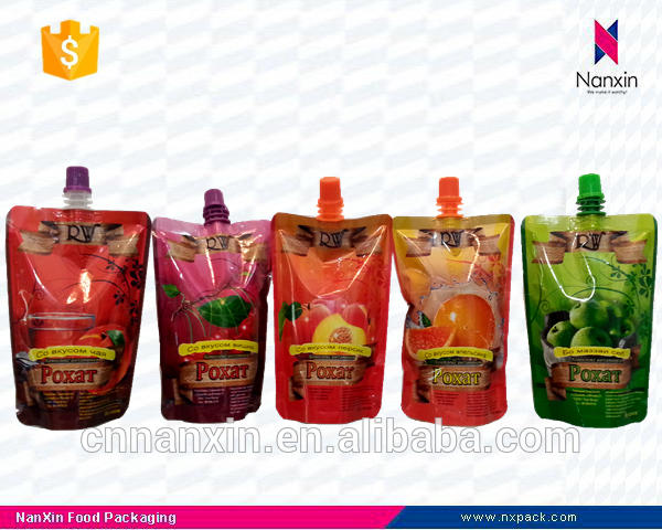 foil lined liquid packaging stand up spout pouch