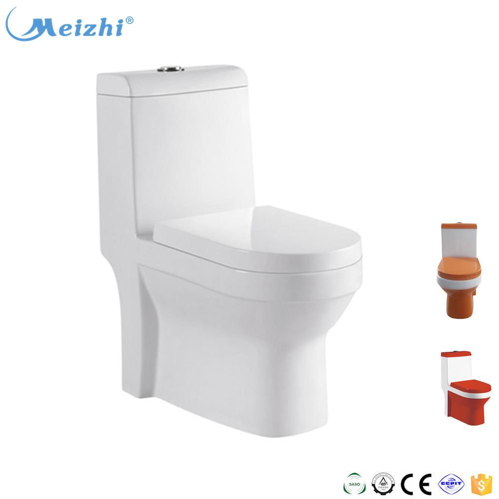 Bathroom toilet seat sanitary ware orange ceramic bowl