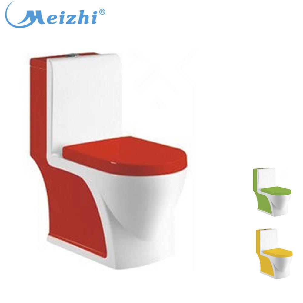 3L flush red color s-trap square ceramic toilet bowl