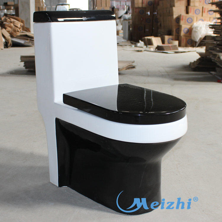 One piece china cheap black toilets