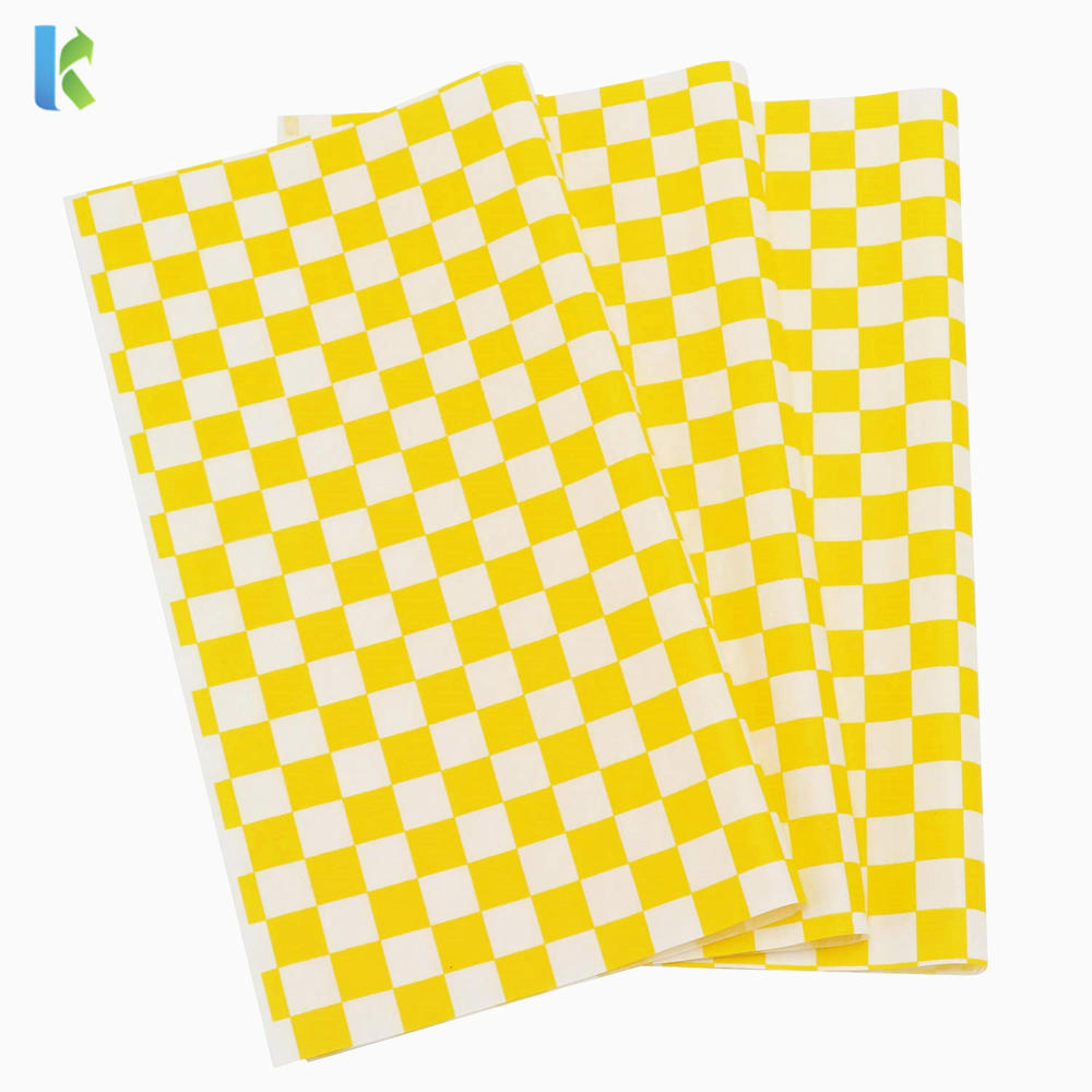 high quality hamburger paper customized printed grease-proof wrapping paper