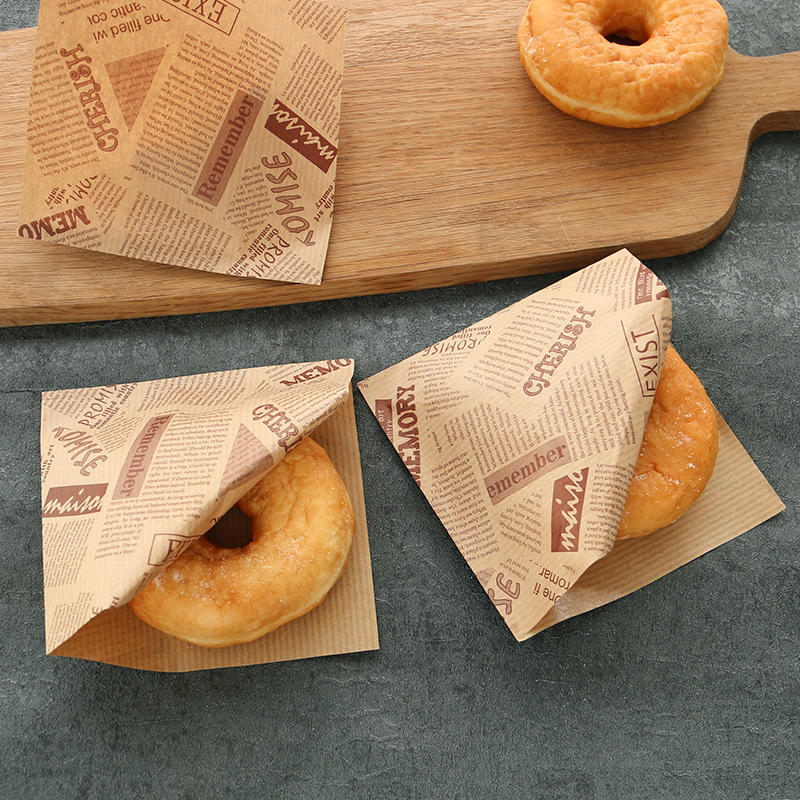 Hamburger Packaging Paper Custom Printing Greaseproof Oil Proof Bread Fries Sandwich Burger Wrapper