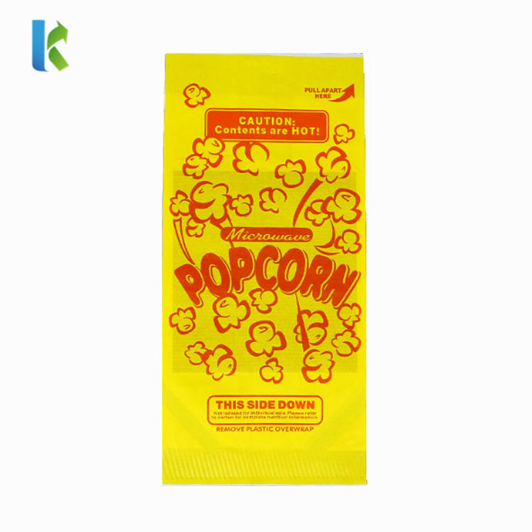 Para New BolsoSealableMicroondas LargeLogo Corn Bulk Wholesale Craft Paper Popcorn Bag