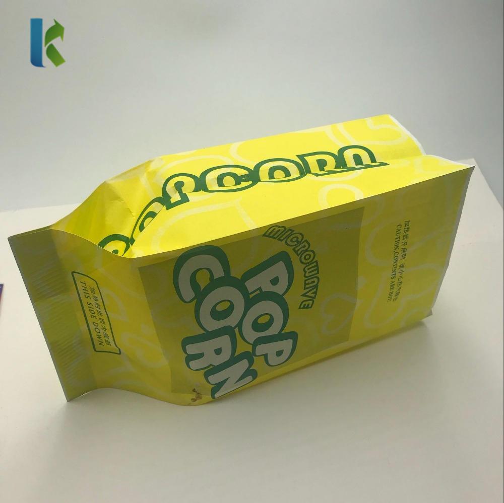 Print Sealable Bulk Popcorn Corn New Bags Custom Wholesale Kraft Logo Craft Factory SealableBolso Large