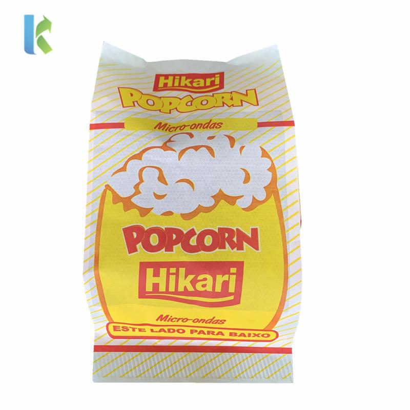 New Para Microondas Factory Corn Bulk Logo Sealable Large Greaseproof Sealable Bolso Wholesale Craft Popcorn Packaging
