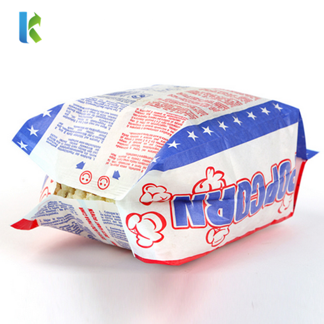 Popcorn Packaging Bags / Greaseproof Paper Bag for Food Packaging / Microwave Popcorn Bags