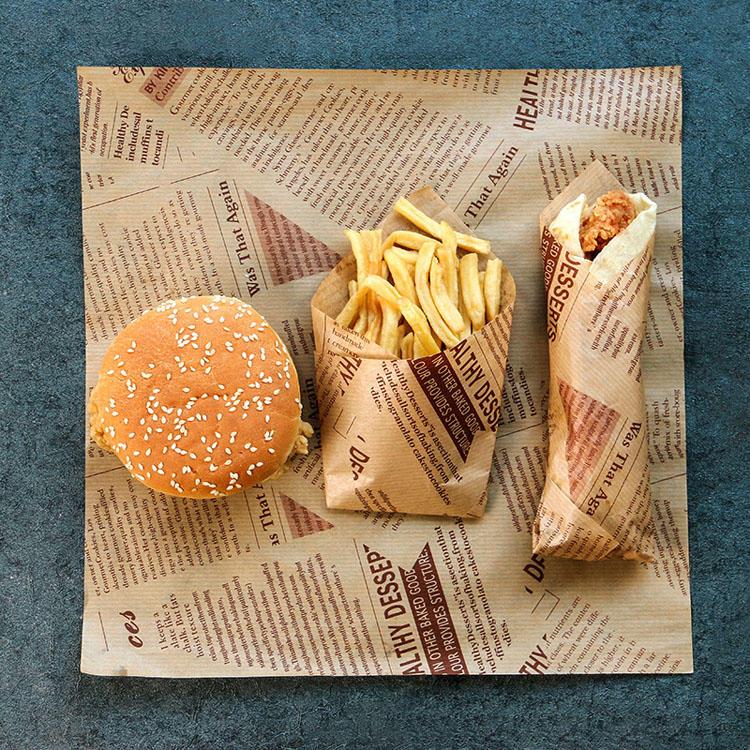 Kolysen Custom Printed Baking Paper Greaseproof Burger Wrapper