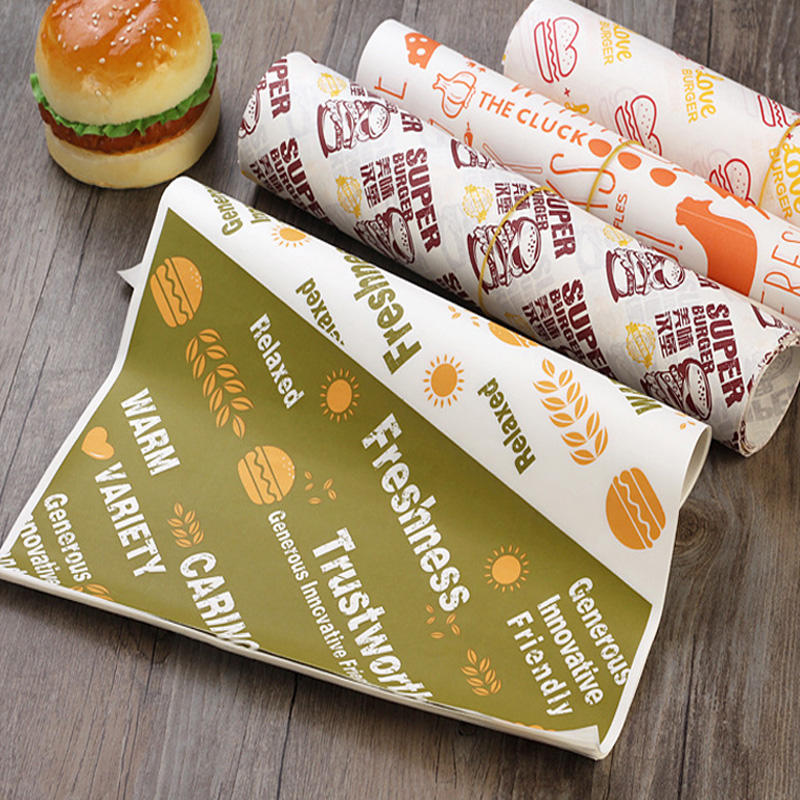 Greaseproof Grease Resistant Perfect Sandwich Wrapping Paper for Food Packaging Fast Food Cheese Basket Liner