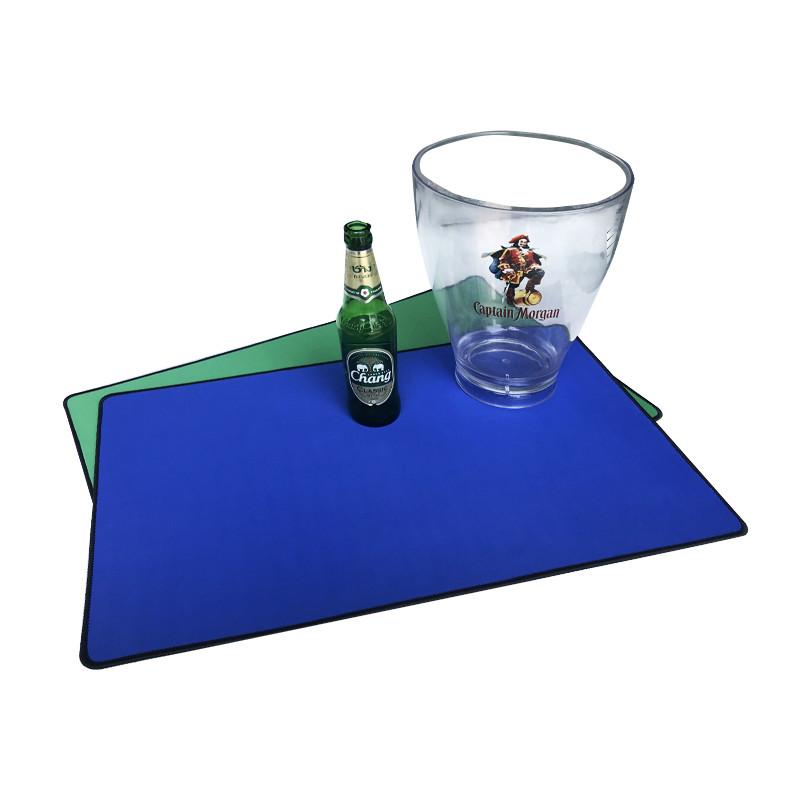 Tigerwings 2020 custom rubber bar count mat/ spill mat with logo