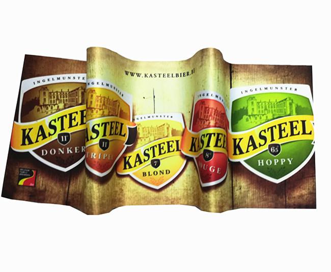 Wholesale custom high quality non-slip natural rubber base runner bar beer mat