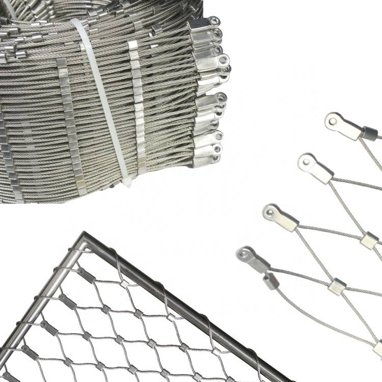 Inox 316 Architectural Ferrule Type X Tend Flexible Stainless Steel Wire Cable Mesh
