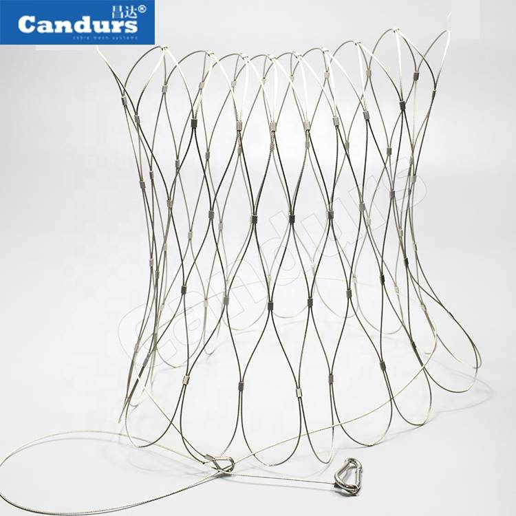 Flexible Light Drop Anti Theft Safety Net Stainless Steel Wire Rope Mesh Bag