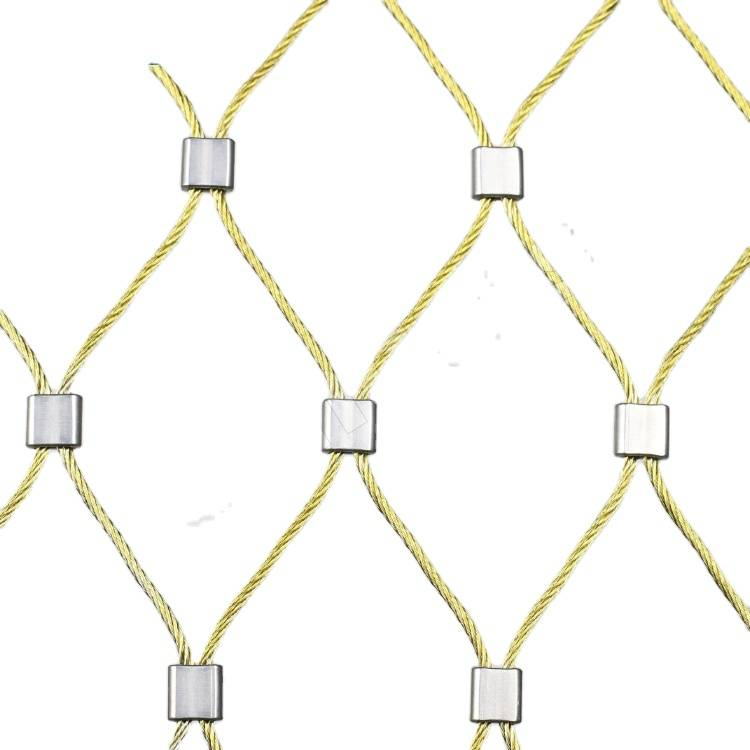 White Golden Bronze Black Red Green Stainless Steel Cable Mesh