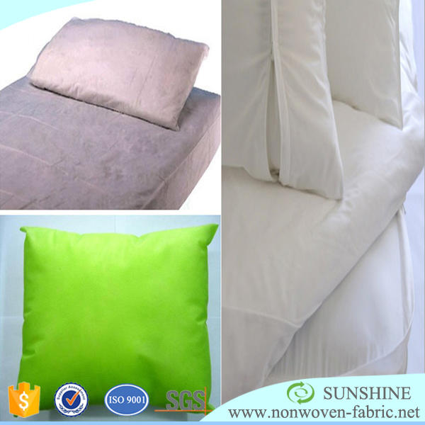 100% polypropylene spunbond non woven fabric raw material to manufacture disposable pillow cover