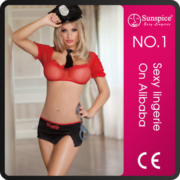 Sunspice hot sale fashion style sexy latex costume for police
