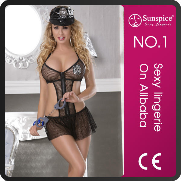 Sunspice top quality adult girls cool sexy poicewoman costume sexy naked costume