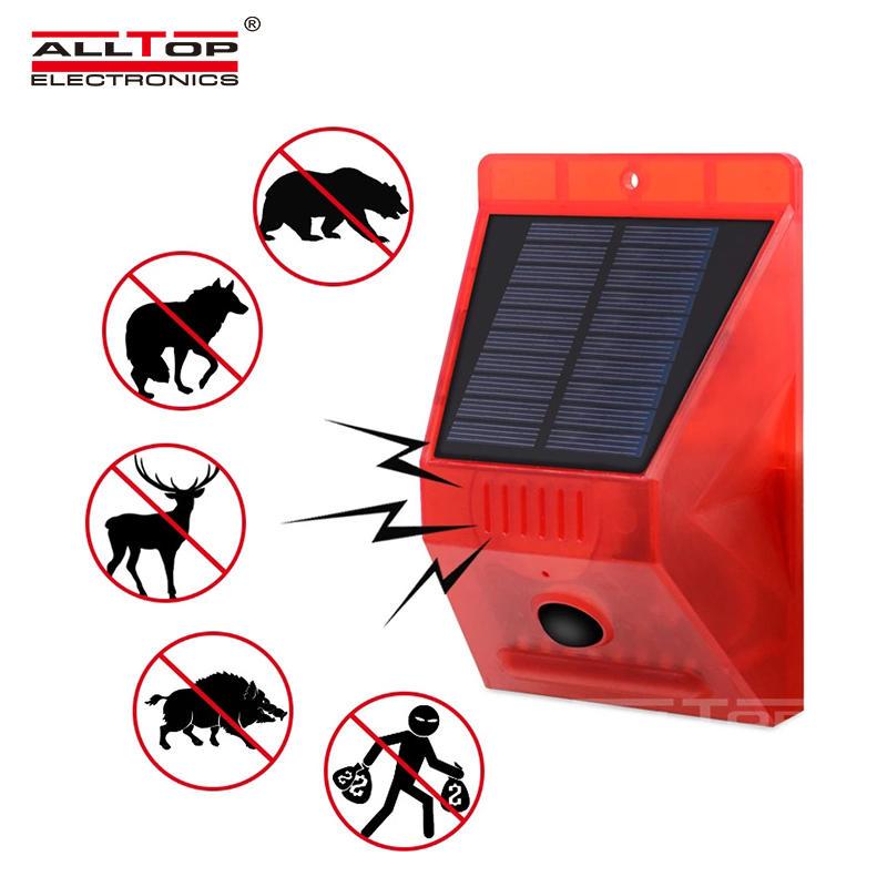 ALLTOP Wireless Solar RF Remote Alarm Siren Solar Power Outdoor Sound Light Siren Home Security Alarm System
