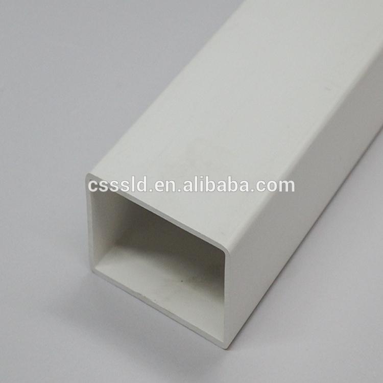 Rectangular hollow PVC tube plastic