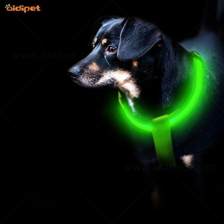 2020 LED dog harness factory flashing light Personalized logo