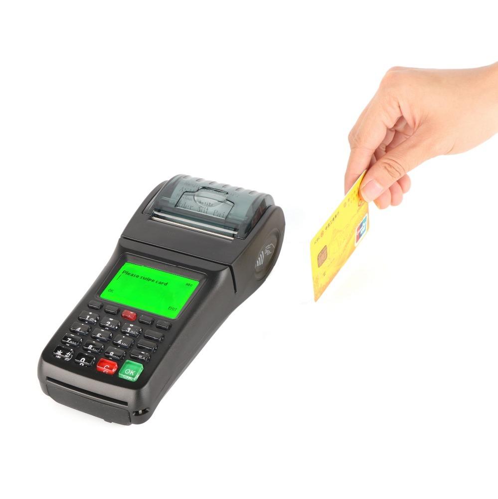 GOODCOM GT6000SA Portable SMS GPRS Voucher Pos Machine Ticket Printer with Card Swiper