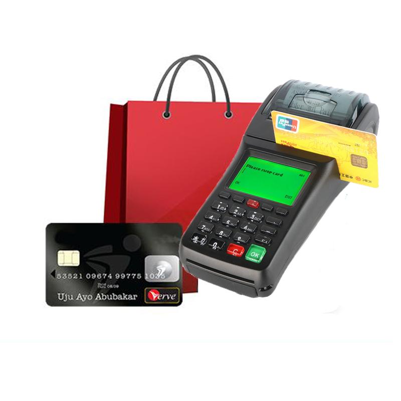 Handheld GPRS Sim Card thermal printer POS terminal with NFC reader