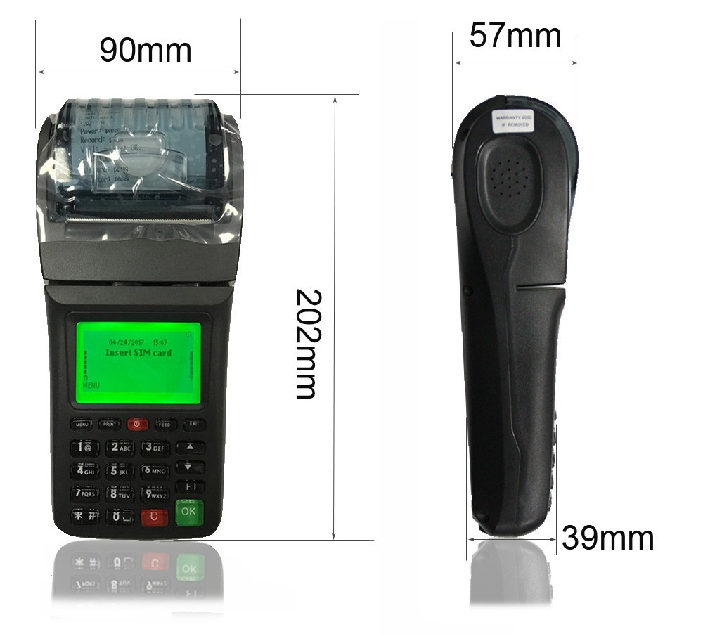 Handheld MSR/IC/NFC Card Swipe Printer Pos Terminal With Point Of Sale Pos Software