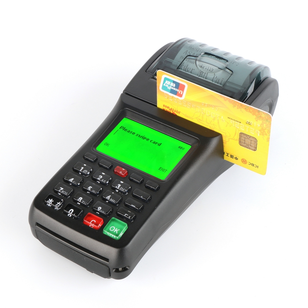 Handheld GPRS thmeral Magnetic card reader printer, WIFI optional