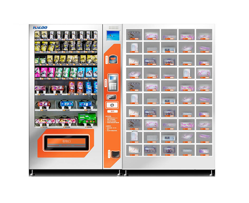 Pregnancy test kit vending machine and medicine vending machine with adult products